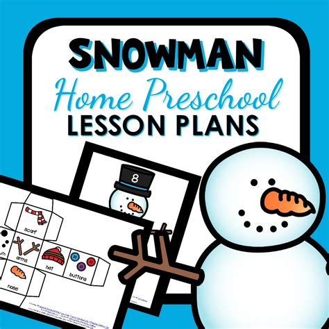 home preschool lesson plans snowman theme home preschool lesson plan home preschool 101