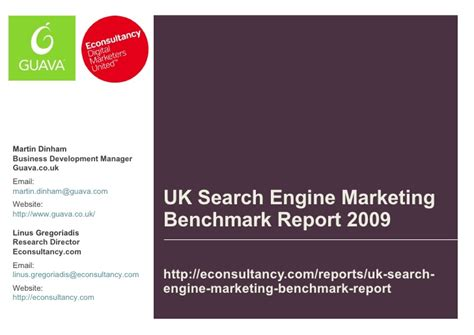 Search Engine Uk Uk Search Engine Benchmark Report 2009