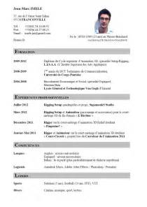 Curriculum Vitae Resume Sles by Resume Format Forme De Cv Exemple