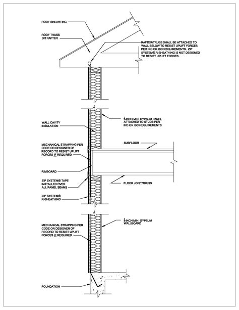 wood wall section technical information huber engineered woods