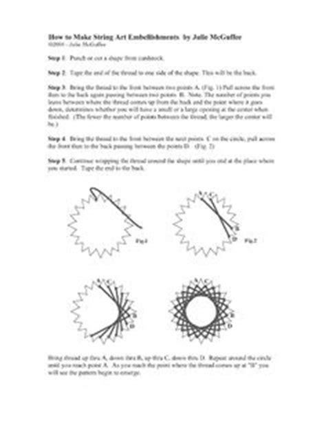 String Directions - step by step for this string