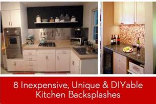 inexpensive backsplash ideas for kitchen eye 8 inexpensive unique and diyable backsplash