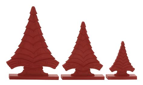 saapni com red wood christmas tree set of 3 51566