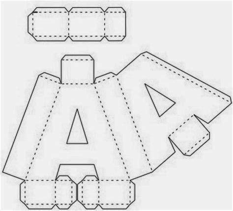 3d alphabet letters template ol 225 pessoal um presente para todos os apaixonados pelas