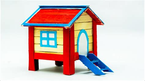 how to create a house how to make a popsicle stick house very easy youtube