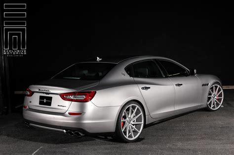 maserati quattroporte custom gray metallic maserati quattroporte s q4 shows off custom