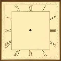 printable square clock face square clock clipart 19