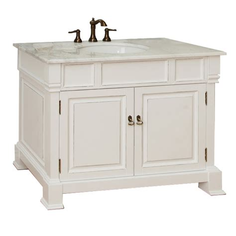 White Bathroom Vanity With Sink 42 Inch Single Sink Bath Vanity In White Uvbh205042wh42