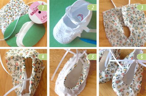 Handmade Shoes Tutorial - diy baby gifts ideas for baby shower basket