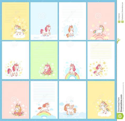 Magic Card Template Vector by Magic Unicorn Template For Birthday Calendar