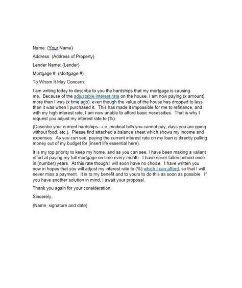 Mortgage Hardship Letter Due To Illness 35 Simple Hardship Letters Financial For Mortgage For Immigration