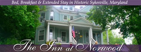 bed and breakfast maryland the inn at norwood bed breakfast sykesville maryland