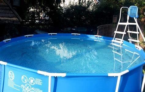 schwimmbecken zum aufstellen pool im garten aufstellen loopele