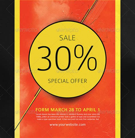 sale advertisement template sales flyer template 75 free psd format free