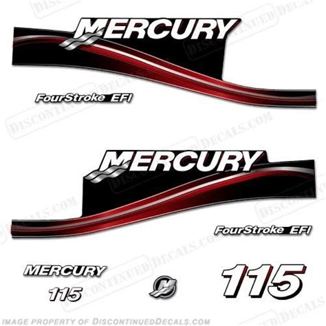 mercury boat engine decals 2005 red mercury 115hp fourstroke efi outboard engine