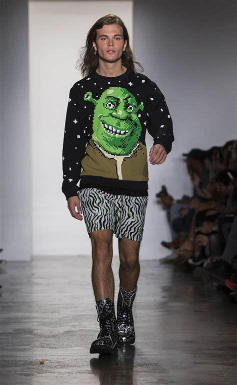 Shrek Is Chic by Marc Models Wore No Makeup At New York Fashion Week
