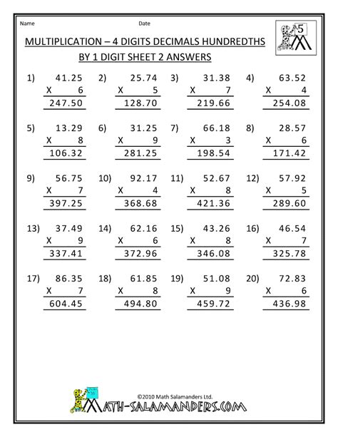 Digit Multiplication Worksheets by Math Worksheets Engaged Immigrant Youth