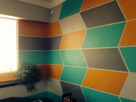 Painting A Bedroom Ideas geometric wall painting ideas weneedfun