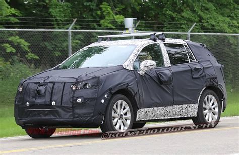 buick version of equinox terrain cuv spied testing with