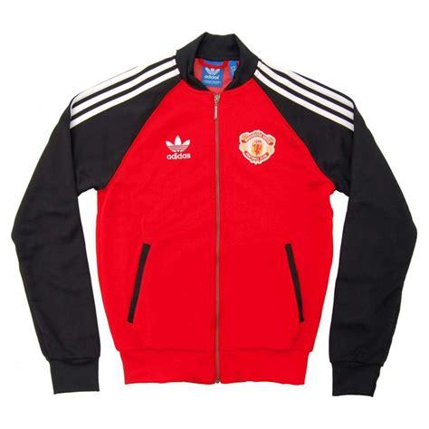Manchester United 09 Raglan adidas originals utd superstar track top black
