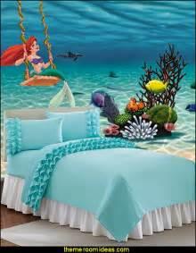 mermaid wallpaper bedroom decorating theme bedrooms maries manor little mermaid