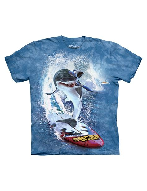 T Shirt Kaos Cozmeed Animal Shark shark surf t shirt the mountain clothingmonster