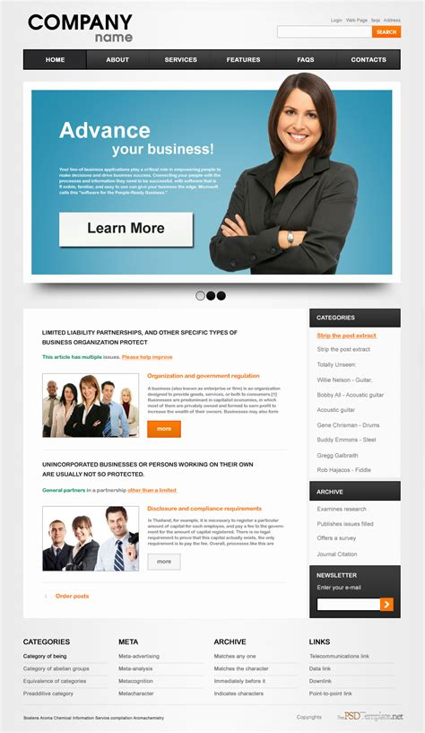 templates for organization website psd graphics free psd web templates