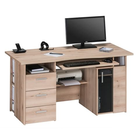 Computer Station Desk by Allison Wooden Computer Work Station In Beech With Storage