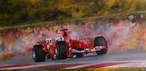 Hang Art At His Best Michael Schumacher 2004 5 Season Acrylic On