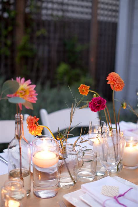 simple table centerpieces for weddings how to make a simple colorful tablescape
