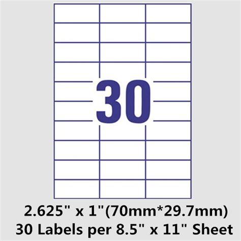 free labels template 21 per sheet blogscrew
