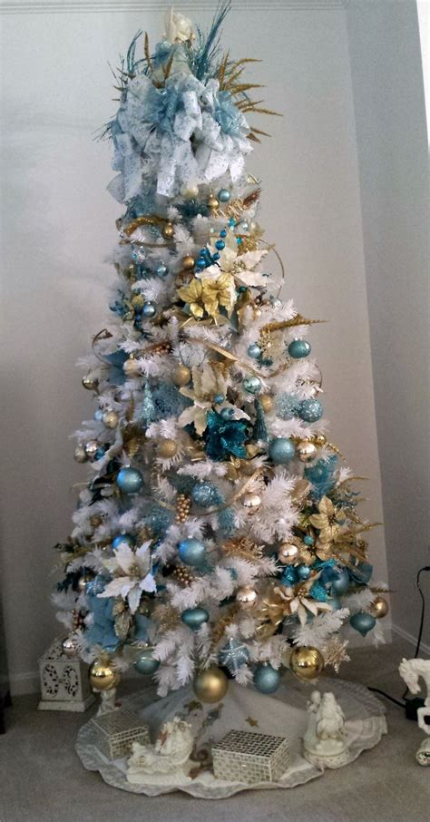blue and gold 2013 christmas tree joyeux noel pinterest