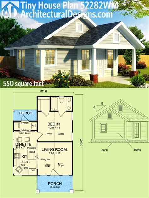550 sq ft house plan 52282wm tiny cottage house plan design too cute