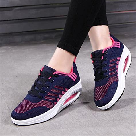 comfortable walking tennis shoes jarlif women s comfortable platform walking sneakers