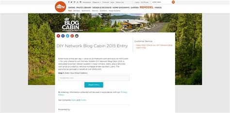 Diy Network Cabin Sweepstakes by Diy Network Cabin 2015 Sweepstakes