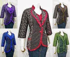 Blouse Atasan Kantor Kerja Batik model pakaian batik untuk pramugari trend baju batik
