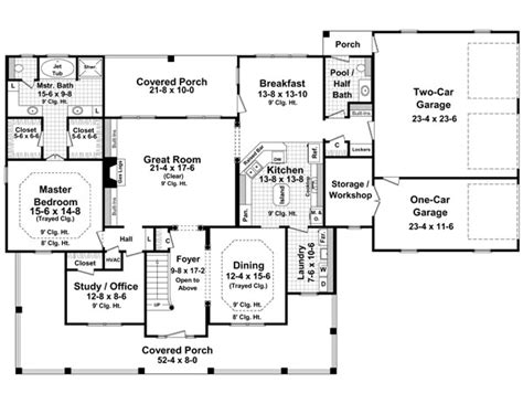 traditional farmhouse floor plans house plan 59172 at familyhomeplans com