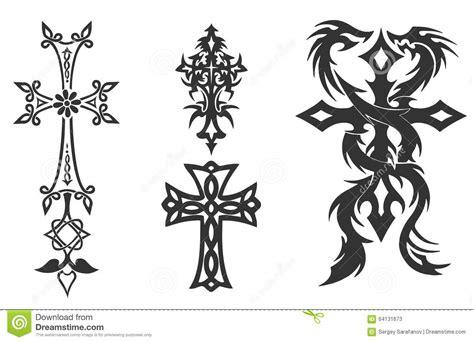 vintage cross tattoo 4 vintage cross vector stock vector image 64131673