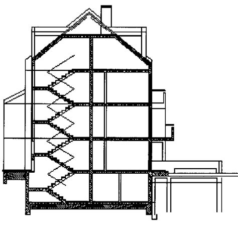 building cross section modelling of modern dwelling building in bulgaria