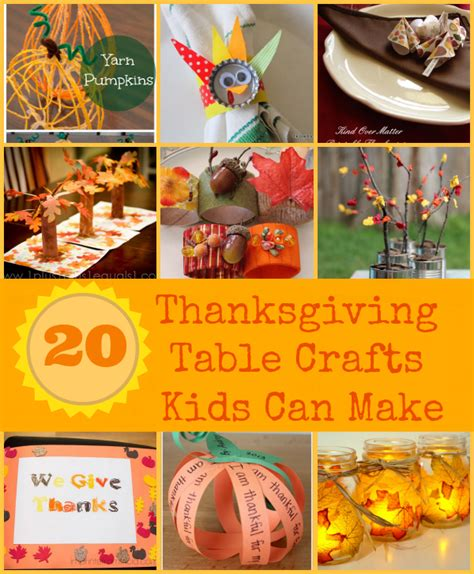 thanksgiving table crafts for thanksgiving crafts can make