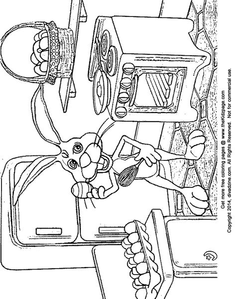 printable coloring pages kitchen bunny in the kitchen free easter coloring pages for kids