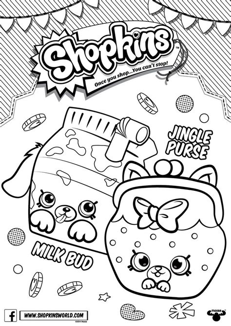 shopkins coloring pages of petkins shopkins coloring pages season 4 petkins jingle purse milk