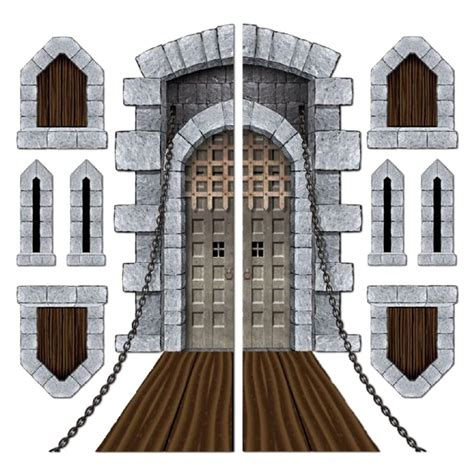 medieval decorations pack of 9 medieval halloween castle door windows cutouts