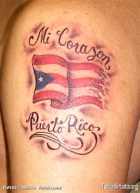 puerto rican tattoos for men flag quotes idea for