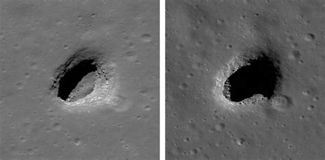 moon and pit lro takes closer look at moon caves