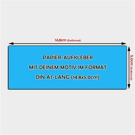 Aufkleber Papier by Papier Aufkleber Din A7 Lang Bestellen 14 8 X 5 0cm