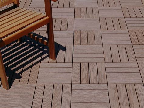 composite patio tiles resideck composite wood deck tiles for low maintenance decking