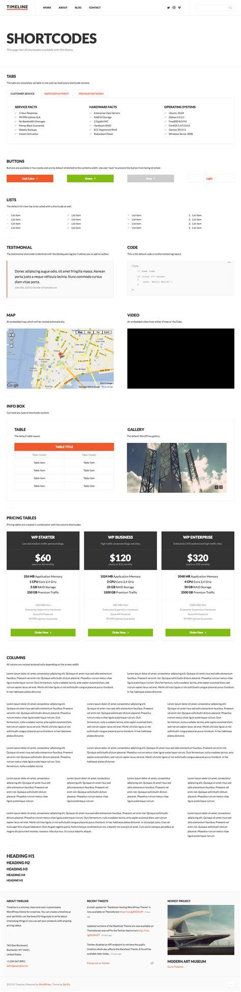 themeforest timeline timeline minimal responsive wordpress theme by serifly