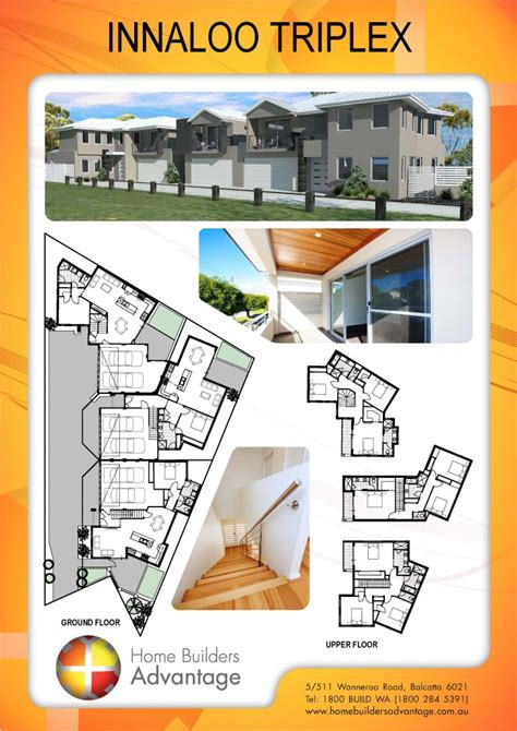 Triplex Floor Plans duplex triplex and quad floor plans by hba