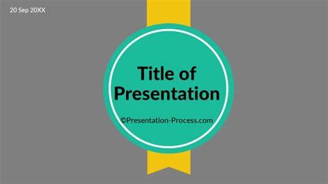 design html title flat design templates powerpoint title slide